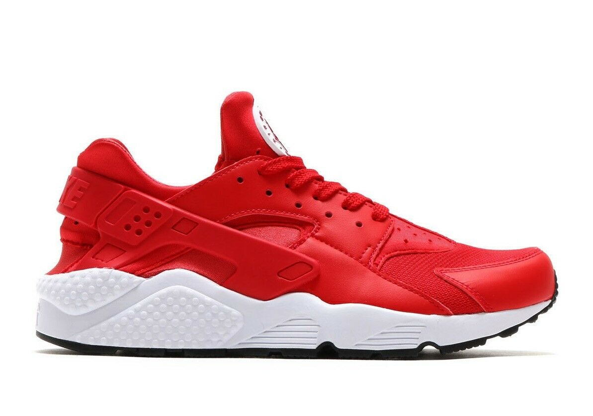 Nike air huarache Uomo sz - 14 università bianco, rosso corsa 318429-604 berry