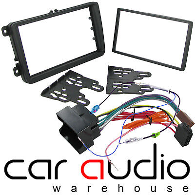 Double Din Facia fitting kit ISO wiring Aerial for VW Jetta 2005 onwards