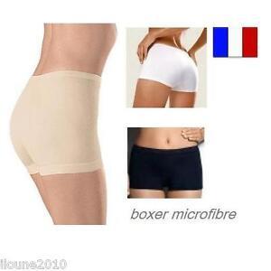 lot de 3 boxers femme sans couture invisible culotte shorty calecon s m l xl xxl ebay. Black Bedroom Furniture Sets. Home Design Ideas