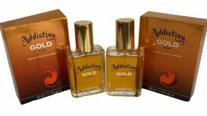 2-X-Addiction-oro-Para-hombre-Eau-de-Toilette-Spray-Para-Despues-de-Afeitar-50ml-Regalos