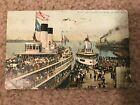 1916 Color Postcard of Excursion Steamer in Detroit Michigan (MI)