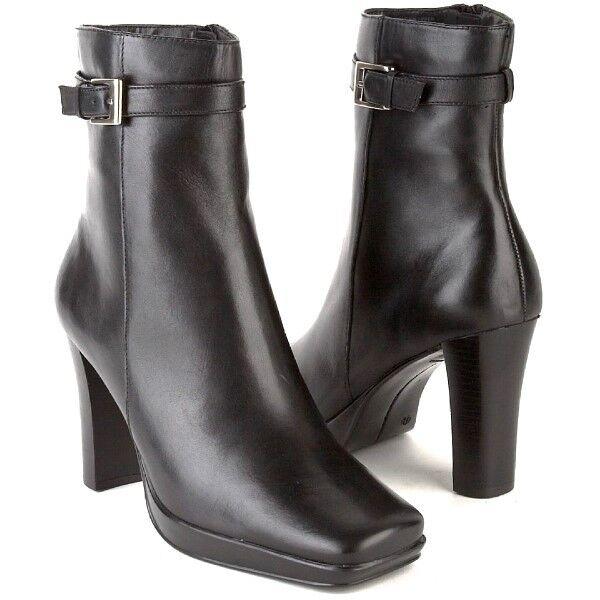 Nuevo Mujeres Style & Co Negro Cuero Mitad Mitad Mitad de Pantorrilla Cremallera lateral Bota De Tacón Alto Zapato Talla 10 M  el precio más bajo