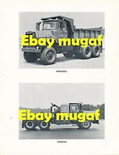 Mack Truck Factory Original Photo Sheet IDF Tank Transporter DM895SX DM800 DM600