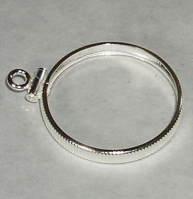 Coin Bezel for U.S.NICKEL Five Cent Coin Edge .925 Sterling Silver No Bail