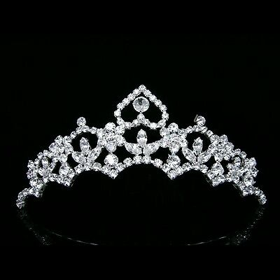 Bridal Wedding Veil Rhinestone Crystal Tiara Comb 7447