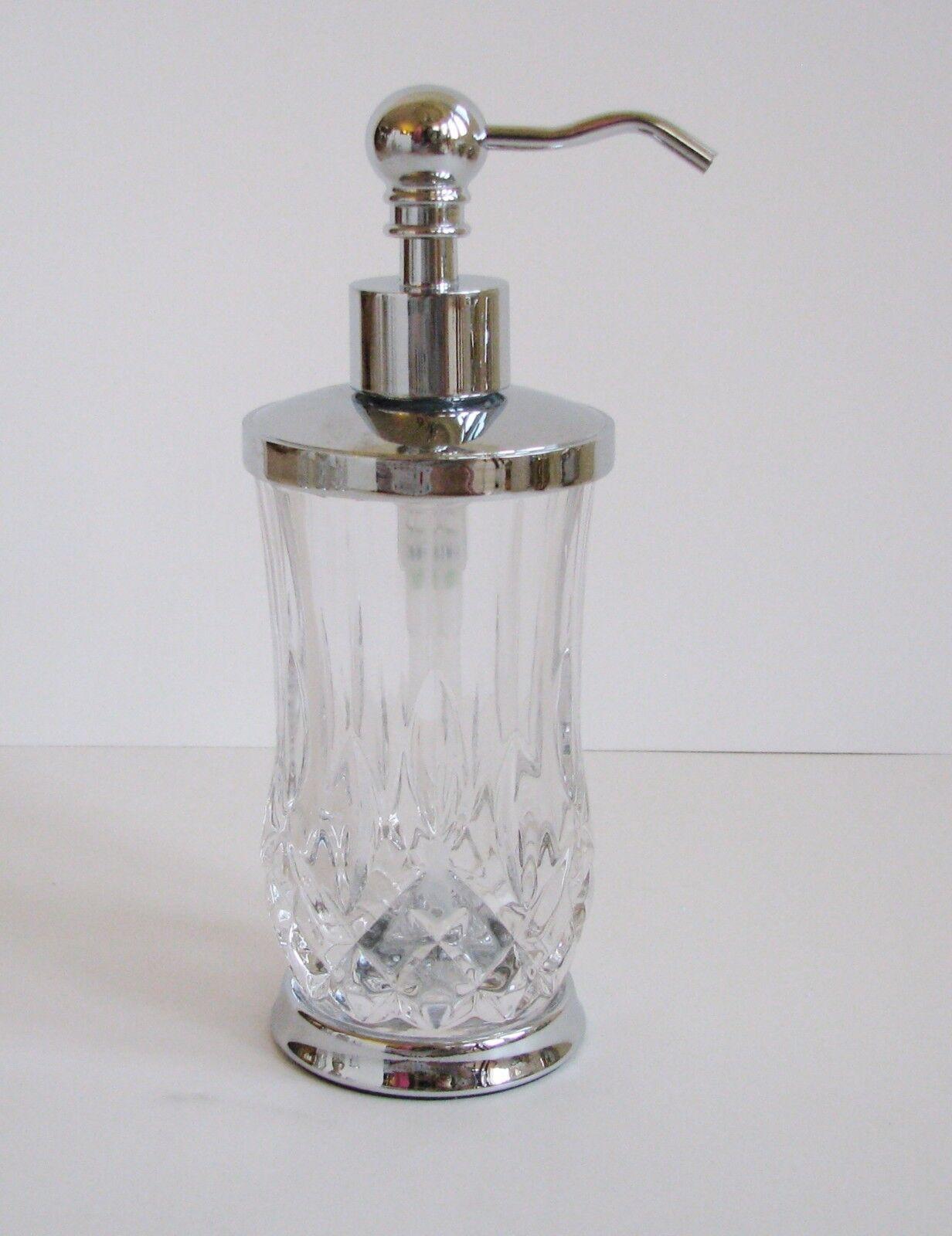 Hotel Sammeln Transparenter Kristall Strass Geschliffenes Glas Seifenspender,