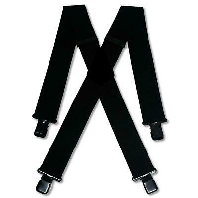"Mens Black White Braces Heavy Duty 1.5/"" or 2/""  Dinner Suit Trousers Black Clip"