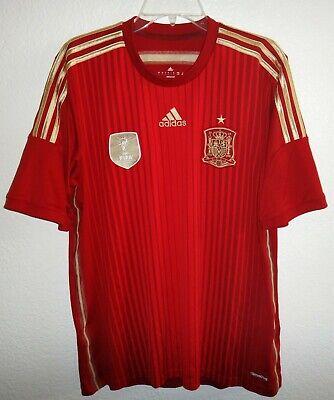 freír exterior Planificado  NEW MEN L ADIDAS CLIMACOOL SPAIN ESPANA 2010 FIFA WORLD CHAMPIONS SOCCER  JERSEY   eBay