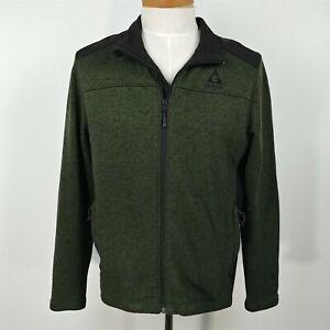Gerry-Green-Mixed-Media-Jacket-Full-Zip-Soft-Shell-Sweater-Jacket-Mens-Size-L