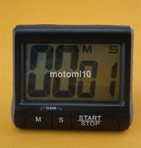 Portable Digital Countdown Timer Clock Large LCD Screen Alarm for ...