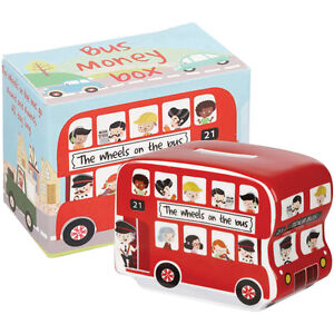 Little Rhymes The Wheels On The Bus Fine China Money Box in Paper Box