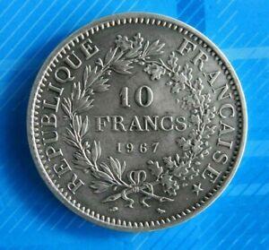 0791-JOLIE-PIECE-DE-10-FRANCS-HERCULE-1967-ARGENT-SUP