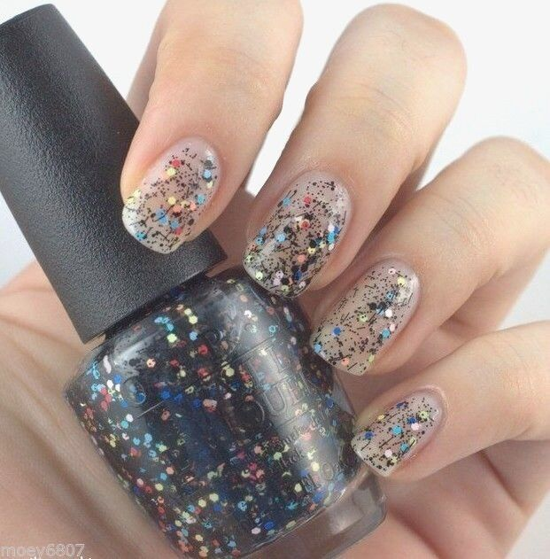 OPI Peanuts *to Be or Not to Beagle* Colorful /black Glitter Nail ...