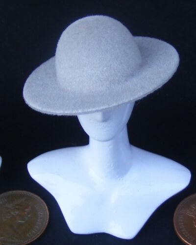 Escala 1:12 suave sombrero Beige para damas de Casa de Muñecas en Miniatura Accesorio De Vestir Ho