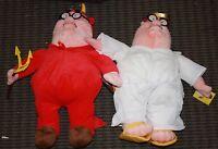 2005 Nanco Plush Family Guy Tv Peter Griffin Angel Devil 20th Century Fox