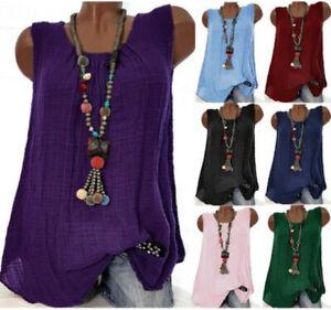Tops-Plus-Size-Loose-Sleeveless-Boho-Blouse-Womens-FashionT-T-shirts