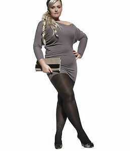 Plus-Size-Microfibre-Opaque-Tights-60-denier-Hosiery-XXL-XXXXL