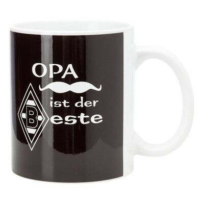 """Aktiv Borussia Mönchengladbach Tasse Kaffeebecher """"opa Ist Der Beste"""" Vfl"""