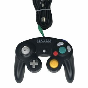 Nintendo-Gamecube-Black-Controller-DOL-003-Tested-Working-Damaged