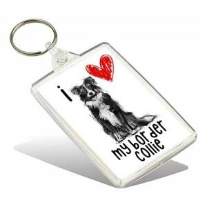 I/'m Happily Owned By A Springer Spaniel Novelty Keyring Ideal Present//Gift