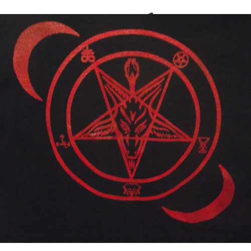 Sigil of baphomet hail satan t shirt satanic shirts Small to 2 Extra Lage