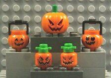 LEGO Pumpkin Head Crook Evil Minifigure Halloween Zombie Jack O/' Lantern