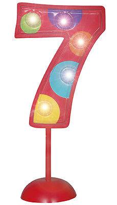 8 Geburtstag Blinkende Zahl Deko in Bunt LED/'s blinken in drei Stufen Gr.11,4cm
