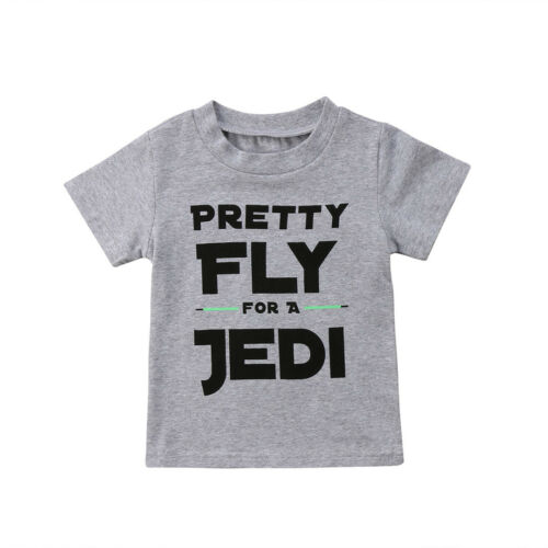 Cute Kid Baby Boys Cotton Short Sleeve Star Wars Tops T-shirt Tee Shirts Clothes