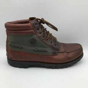 Timberland-Mens-Chukka-Boots-Brown-Lace-Up-Moc-Toe-Waterproof-Leather-9-5-M
