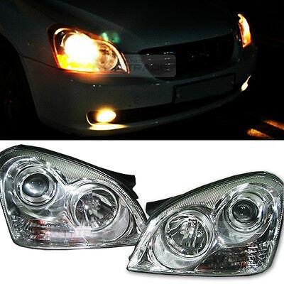 For KIA 2006-2008 Optima / Lotze OEM Genuine Chrome Background Head Lamp L+R Set