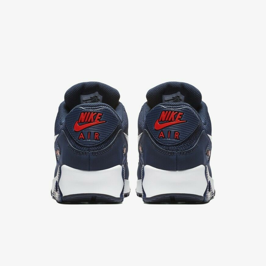 Nike Air Max 90 Essential Essential Essential shoes Men's Midnight Navy White Red  AJ1285-403 Sz5-12 118947