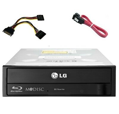 LG 16x Internal Blu Ray/DVD/CD Burner Writer Drive + sata data & power cables