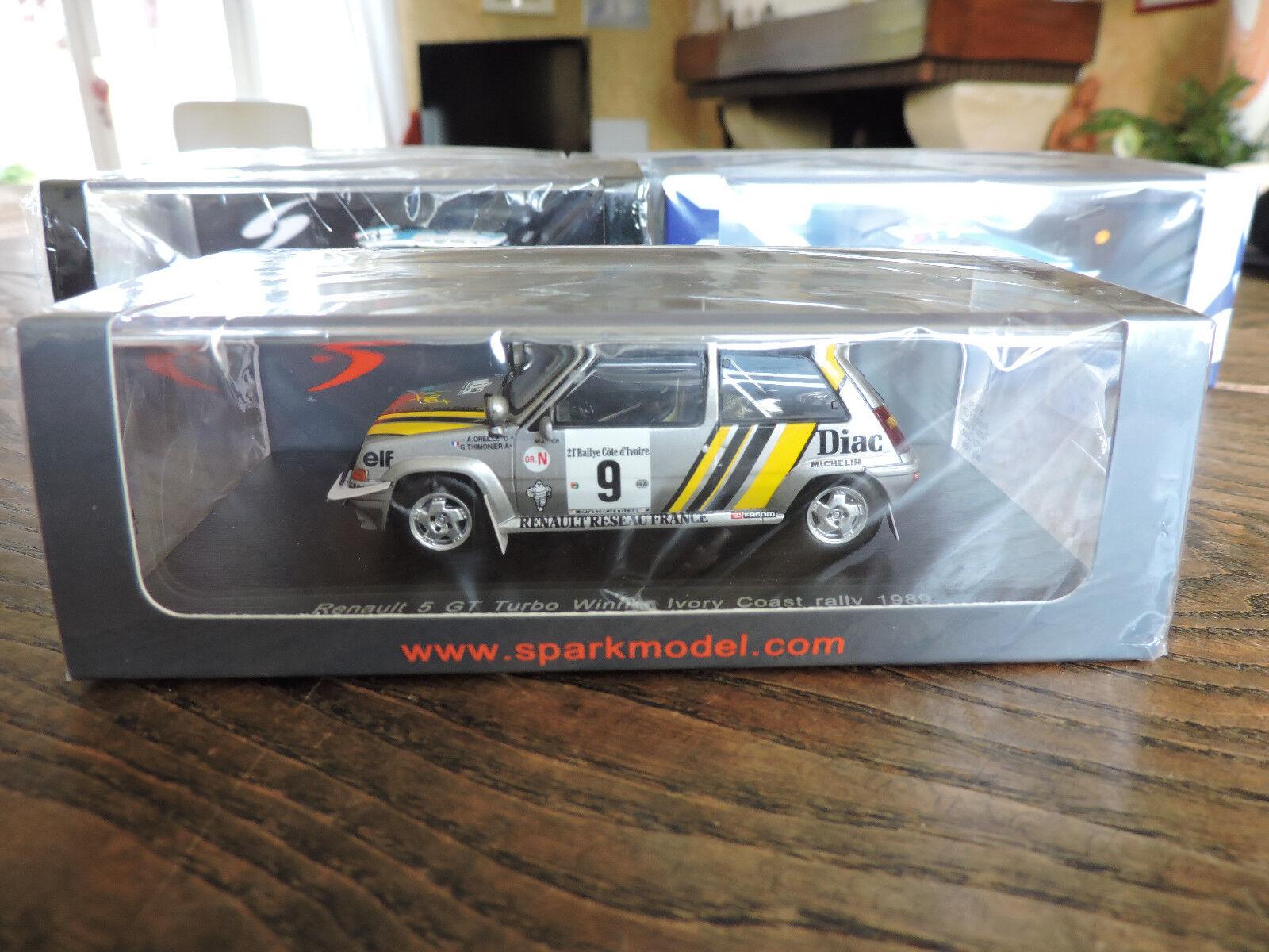 Renault 5 GT Turbo - Winner Rallye Cote Ivoire 1989 - SPARK - 1 43 - S3859