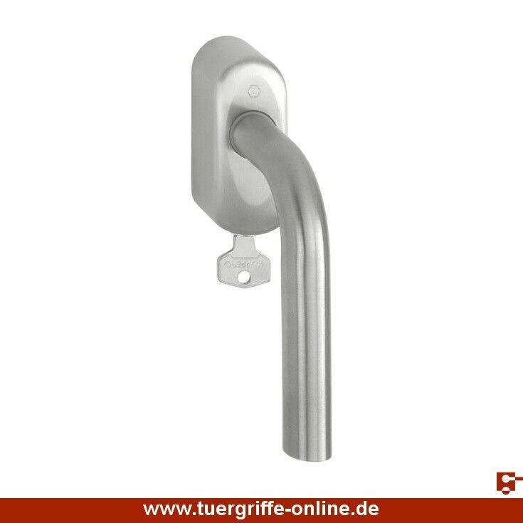 Hoppe Fenstergriff Bonn abschließbar 43 mm Edelstahl matt E150Z/US950S 100NM F69