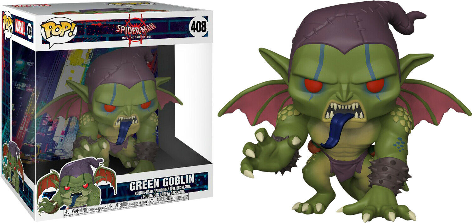 "Spider-Man  Into the Spider-Verse - Green Green Green Goblin 10"" Pop  Vinyl Figure 90c30a"