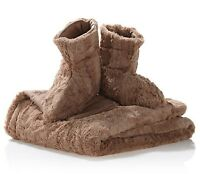 Clearance Concierge Collection Faux Fur Throw & Booties Latte 50x60 - 1c038h