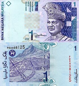 MALAYSIA 1 RINGGIT Crown Prince Year 2000 Banknote World Paper Money UNC Bill