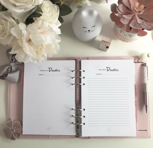 DAILY NOTES PERSONALISED Printable A5 Planner Refill Filofax weight loss KIKKI K