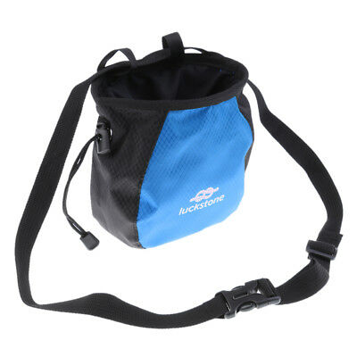 Cuboid Rock Climbing Chalk Bag with Side Zip Pocket /& Drawstring Waist Belt