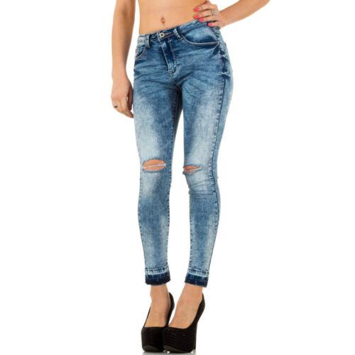Damen Destroyed High Waist Skinny Jeans 0699 Ital-design