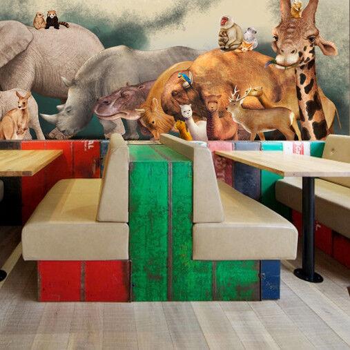 Papel Pintado Mural De Vellón Reino De Animales  2 Paisaje Fondo De PanGröße ES