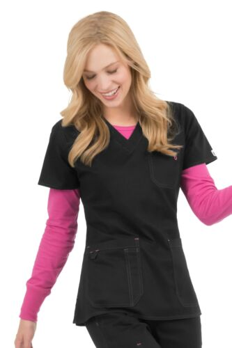 """MC2 by Med Couture Women/'s /""""Niki/"""" 8496 Contrast Stitch V-Neck Scrub Top"""