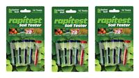 3 Packs Rapitest Soil Testing Kits For Adjusting Soil Conditions