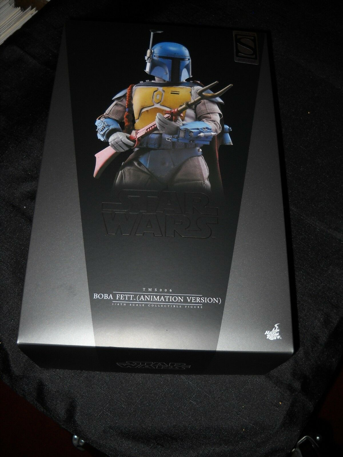 STAR WARS SIDESHOW HOT TOYS ANIMATED BOBA FETT SIXTH SCALE 1:6 TMS006