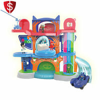 Pj Masks Headquarters Playset Figure Fun Catboy Car Plastic Vehicle Ramp Toy Boy