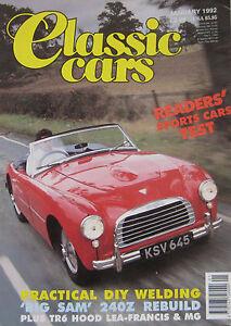Classic-Cars-01-1992-featuring-Datsun-240Z-Jaguar-Triumph-Austin-Healey-MG