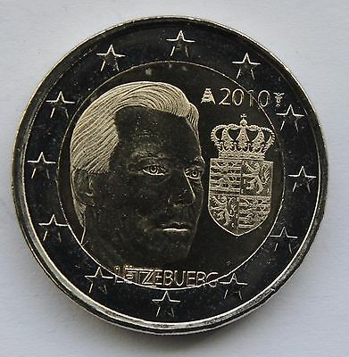 Luxembourg 2 euro 2010 Coat of Arms Duke Henry Rare UNC