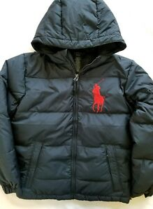 0d0e2dc58 Ralph Lauren Boys Down Winter Jacket Coat Puffer Navy Big Pony Size ...
