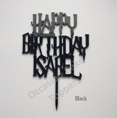 Apprensivo Harry Potter Personalizzata Nome Happy Birthday Cake Topper-mostra Il Titolo Originale