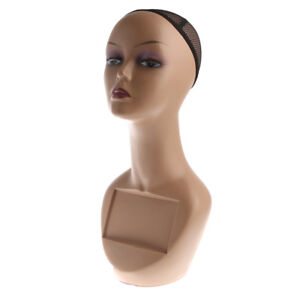 Female-Mannequin-Head-Bust-Wig-Hat-Jewelry-Display-Model-Stand-with-Net-Cap